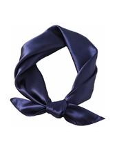Fashion Favorite Satijnen Bandana / Zakdoek Donkerblauw