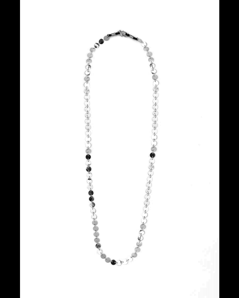 Fashion Favorite Zonnebril Ketting / Brillenkoord   Coin Zilver   82 cm