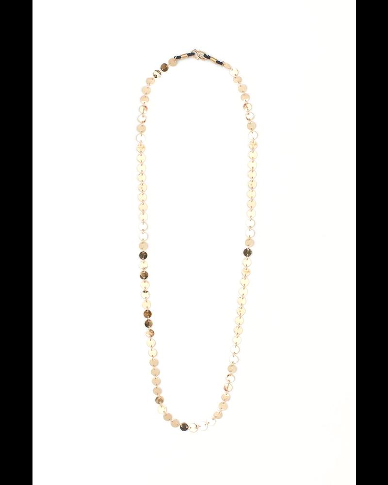 Fashion Favorite Zonnebril Ketting / Brillenkoord | Coin Goud | 82 cm