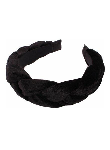 Fashion Favorite Velvet Diadeem - Zwart