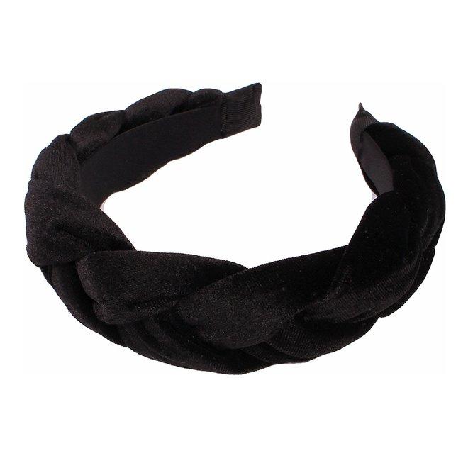 Velvet Diadeem / Haarband - Zwart