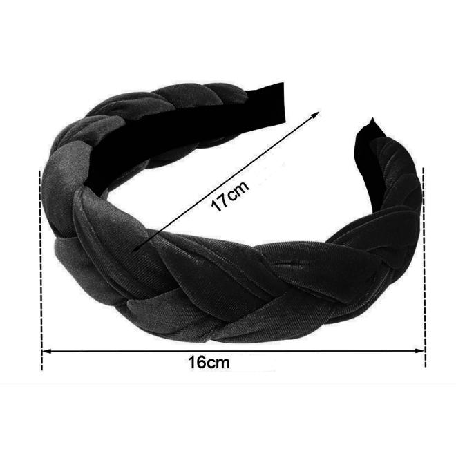 Velvet Diadeem / Haarband - Zilver / Grijs