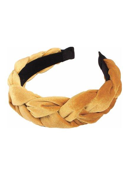 Fashion Favorite Velvet Diadeem - Goud