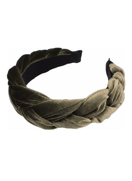 Fashion Favorite Velvet Diadeem - Groen / Olive
