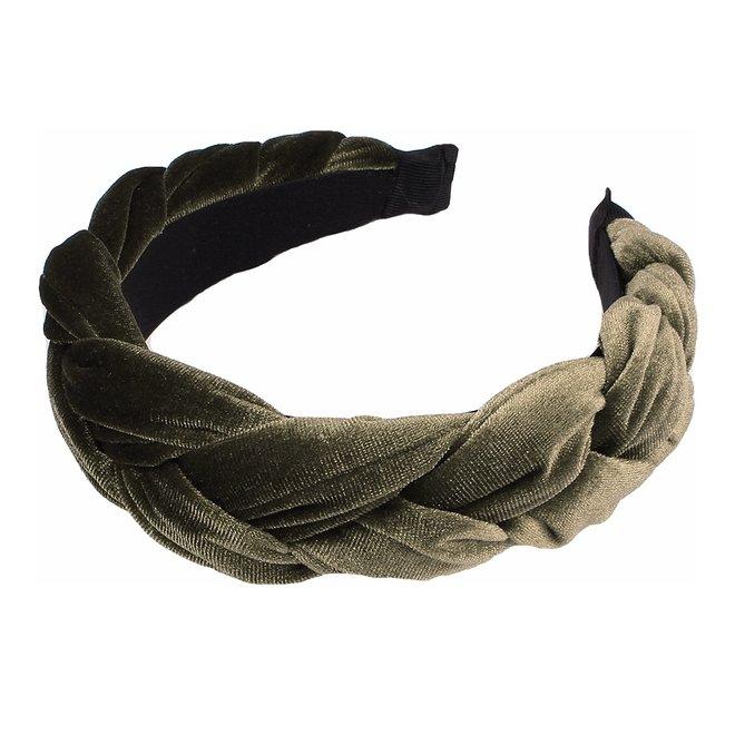 Velvet Diadeem / Haarband - Groen / Olive