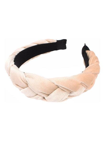 Fashion Favorite Velvet Diadeem - Beige