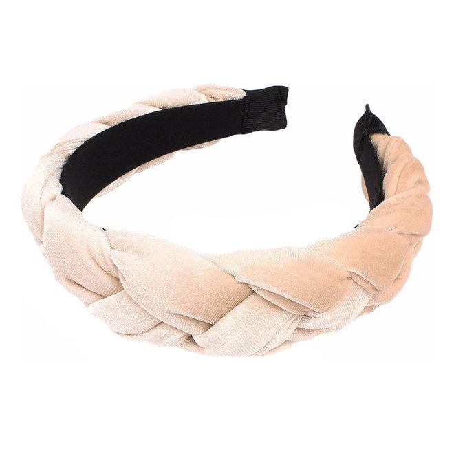 Velvet Diadeem / Haarband - Beige