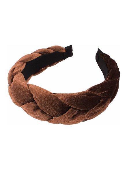 Fashion Favorite Velvet Diadeem - Bruin