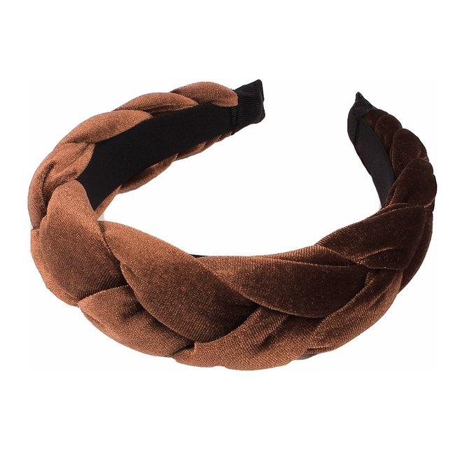 Velvet Diadeem / Haarband - Bruin