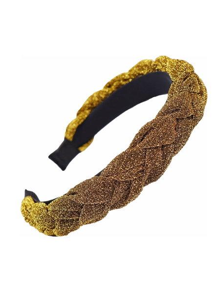 Fashion Favorite Velvet / Glitter Diadeem - Goud