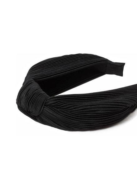 Fashion Favorite Geplisseerde Diadeem - Zwart