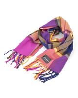 Fashion Favorite Ruit Sjaal - Paars/Roze/Geel