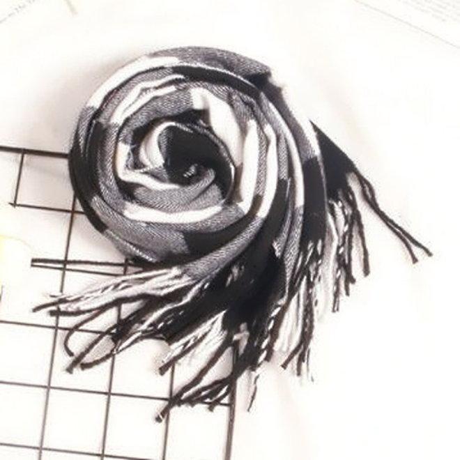 Ruit Sjaal - Zwart/Wit