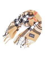 Fashion Favorite Ruit Sjaal - Beige/Zwart/Rood