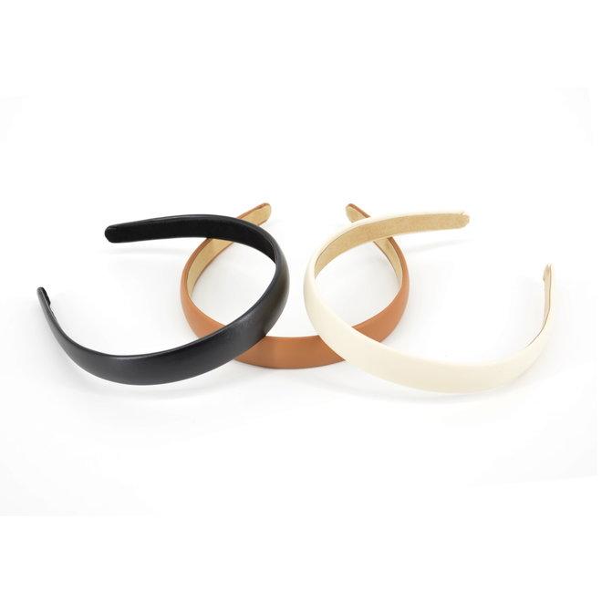 PU leder Diadeem / Haarband   Zwart   Kunstleer   Fashion Favorite
