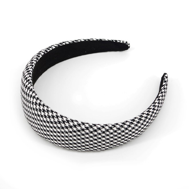 Pied-de-Poule Diadeem / Haarband   Midi   Polyester   Fashion Favorite