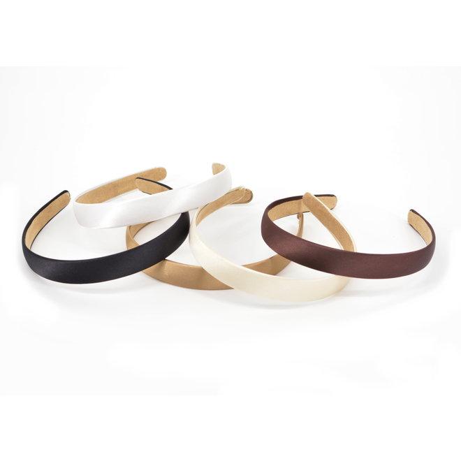 Shiny Diadeem / Haarband   Ivoor/Zilver   Kunstleer   Fashion Favorite