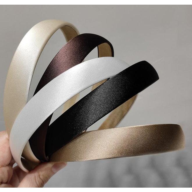 Shiny Diadeem / Haarband   Zwart   Kunstleer   Fashion Favorite