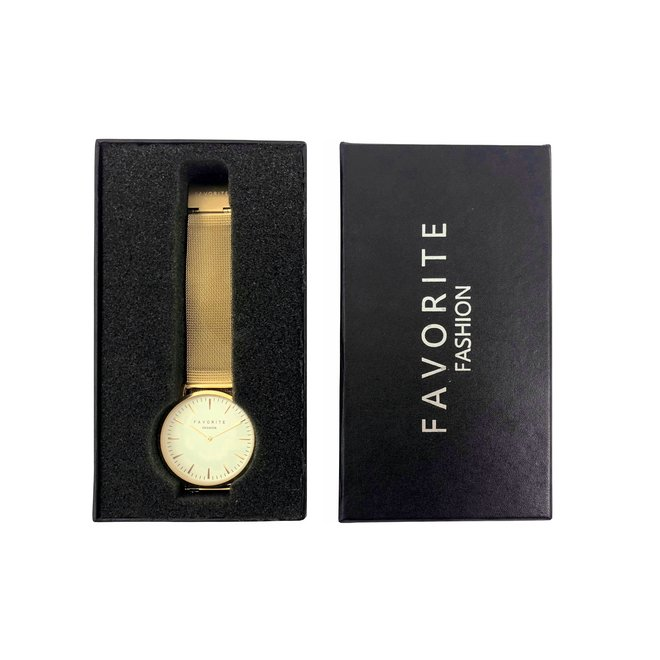 Favorite Fashion - Horloge Giftbox Zwart - 15,7 x 8,8 x 2,9 cm