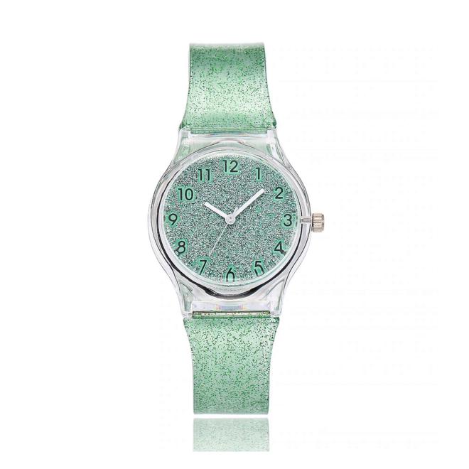 Shiny Kinderhorloge Groen   Glitter