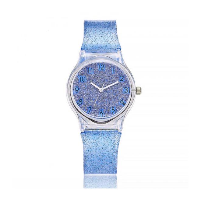 Shiny Kinderhorloge Blauw | Glitter | Kunststof/Plastic