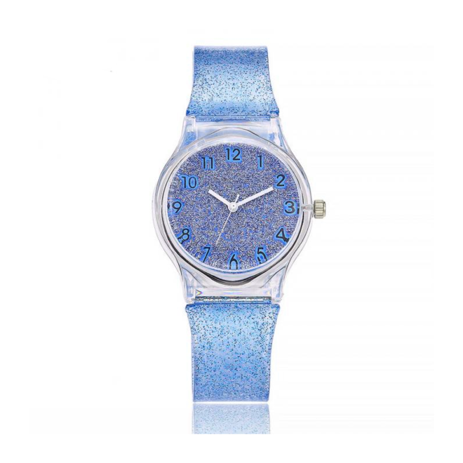 Shiny Kinderhorloge Blauw | Glitter