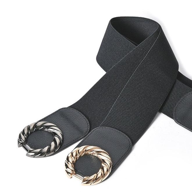 Elastische Riem   Twisted Goud   Polyester / Elastaan   Fashion Favorite