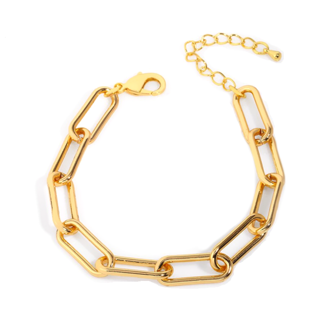 Schakelarmband | Goud | 19,5 + 5 cm | Staal / Gold Plated | Fashion Favorite