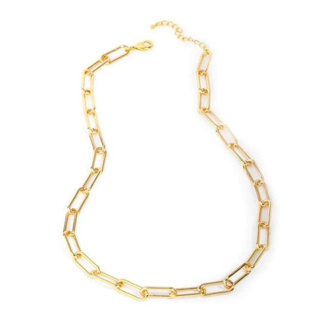 Schakelketting | Goud | 60 + 5 cm | Staal / Gold Plated | Fashion Favorite