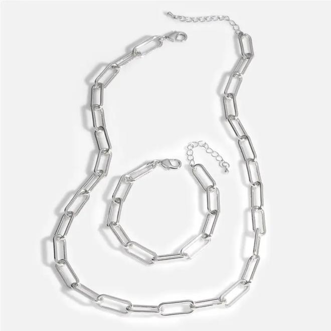 Schakelketting | Zilver | 60 + 5 cm | Staal / Silver Plated | Fashion Favorite