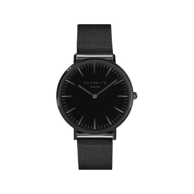 Navarra Full Black Mesh 2.0 Horloge