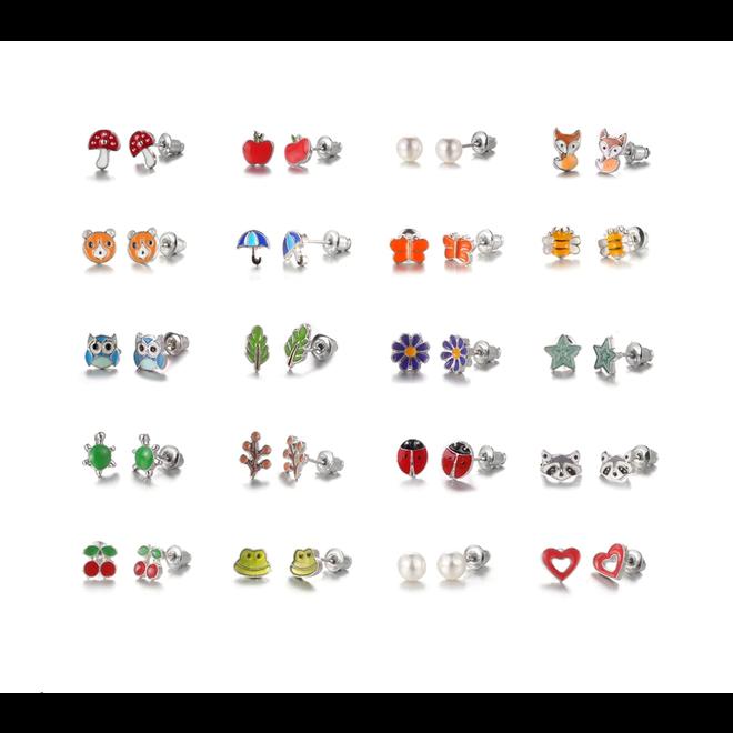 Stud Oorbellen  Multi   Bijoux   Set 20 Paar