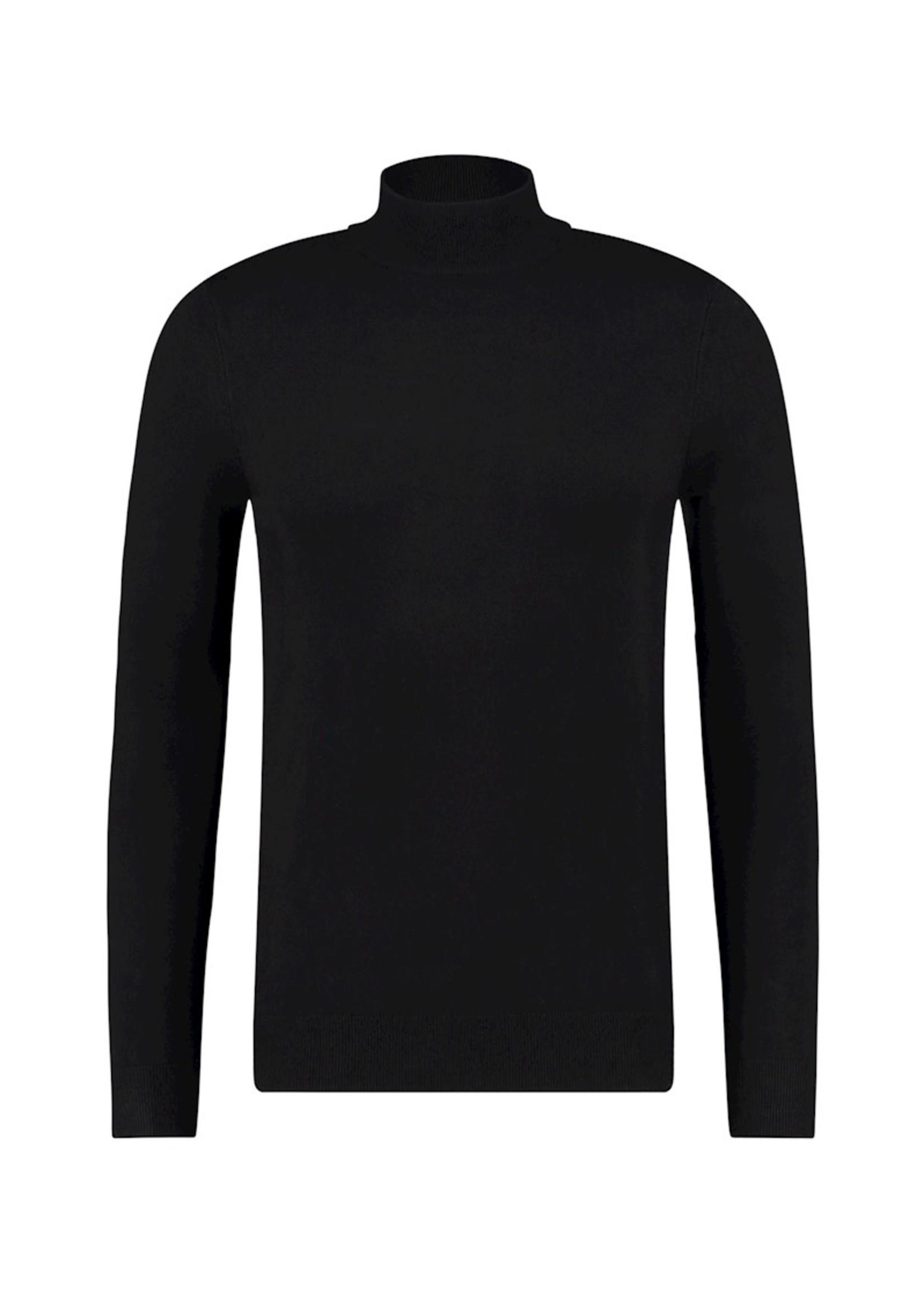 Purewhite Purewhite Knit Mockneck - Black