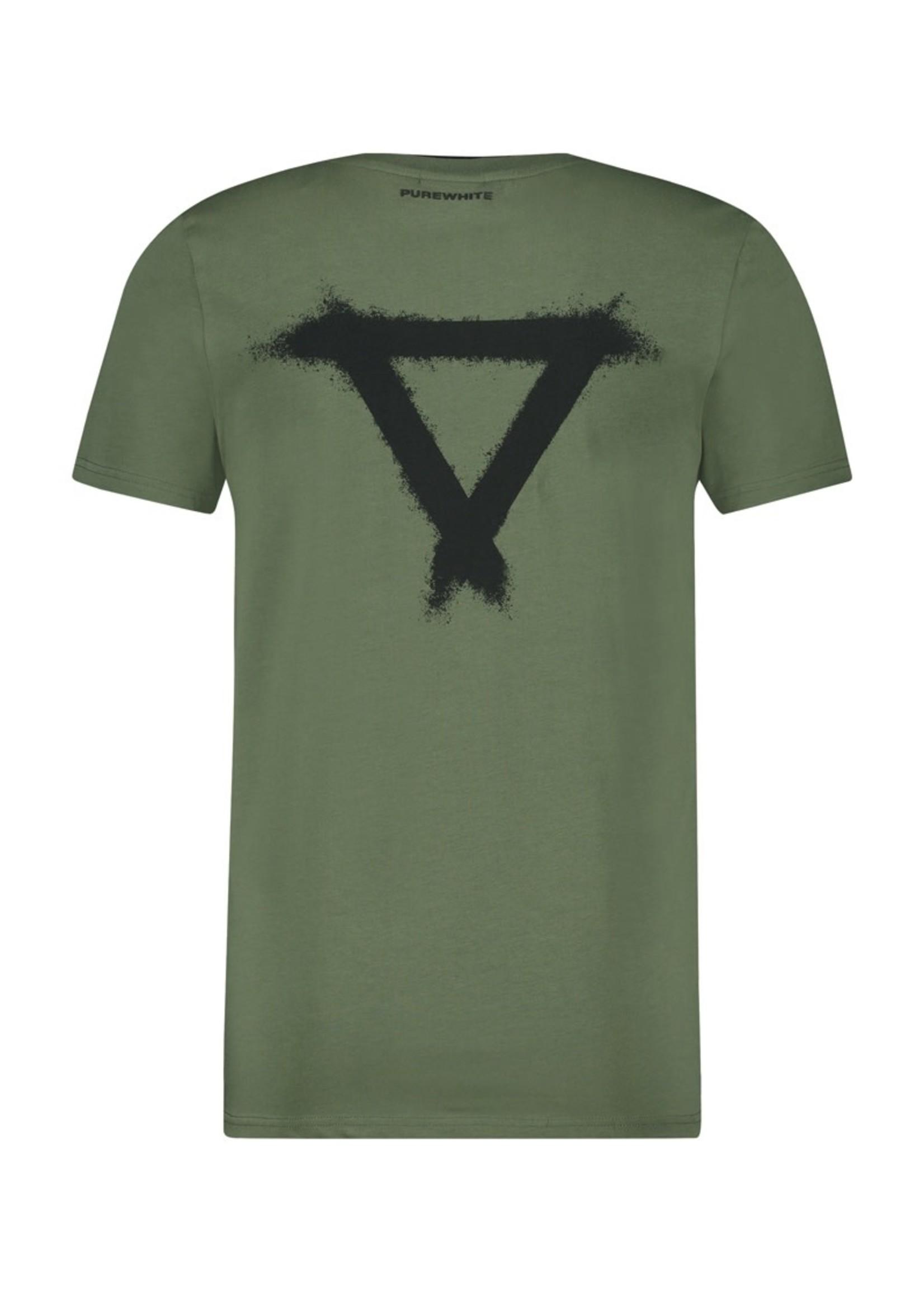 Purewhite Purewhite Double Collar - Army Green