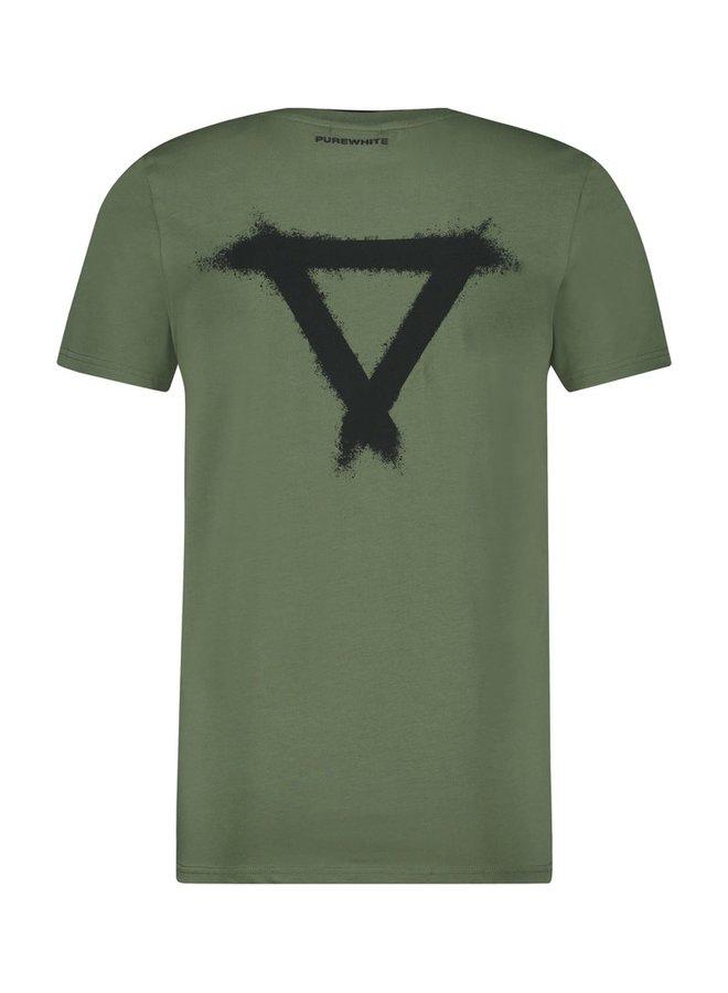 Purewhite Double Collar - Army Green