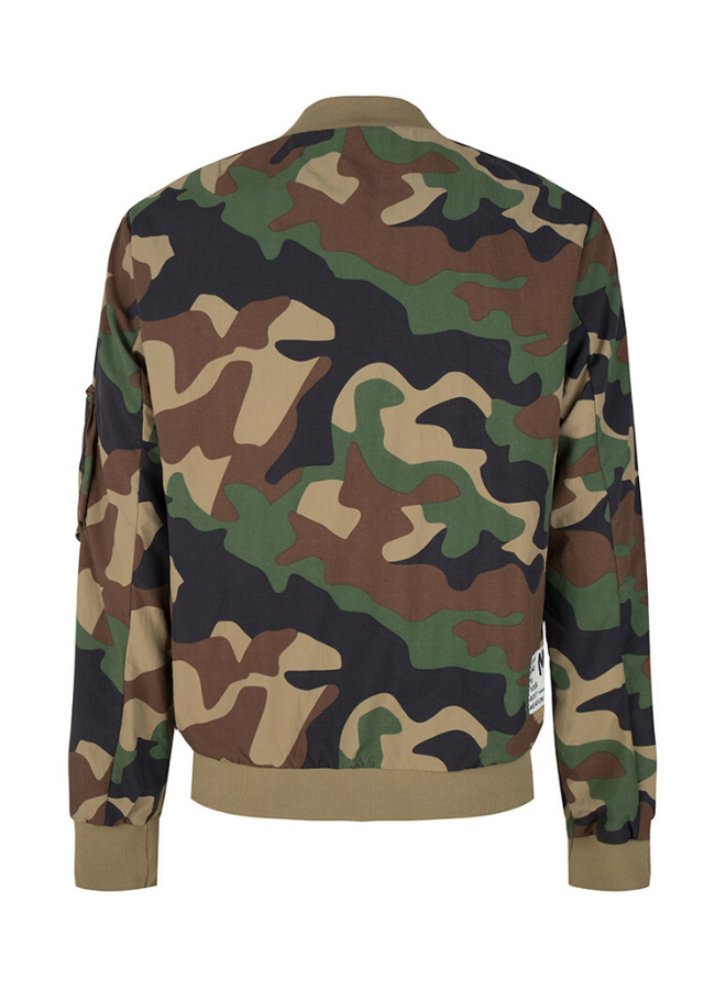 Once We Were Warriors Ravi Bomber Jacket - Camo Army