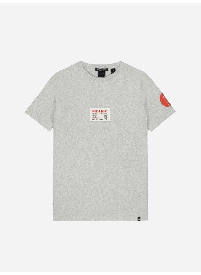 Nik&Nik Marco T-Shirt - Grey Melange