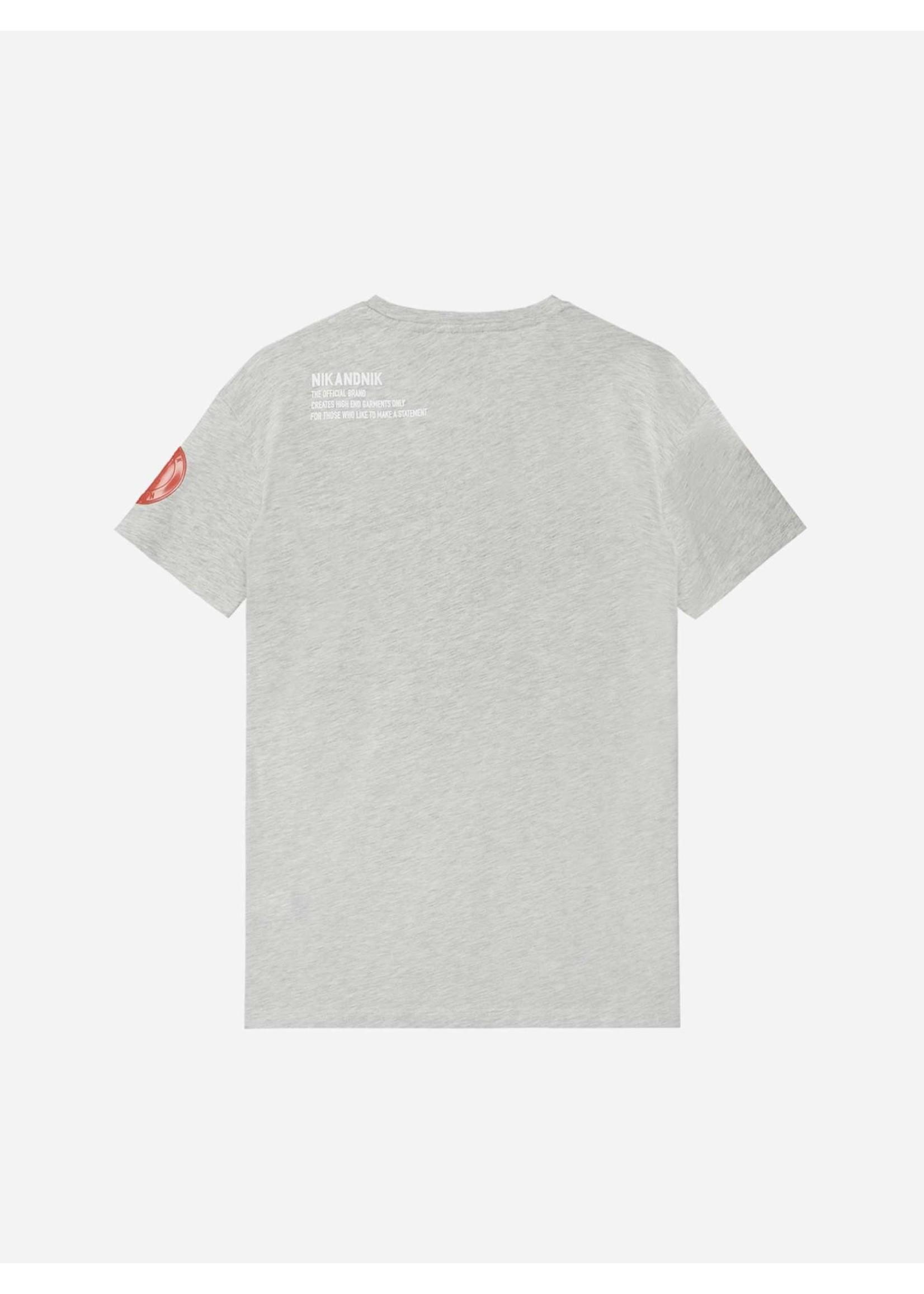 NIK&NIK Nik&Nik Marco T-Shirt - Grey Melange