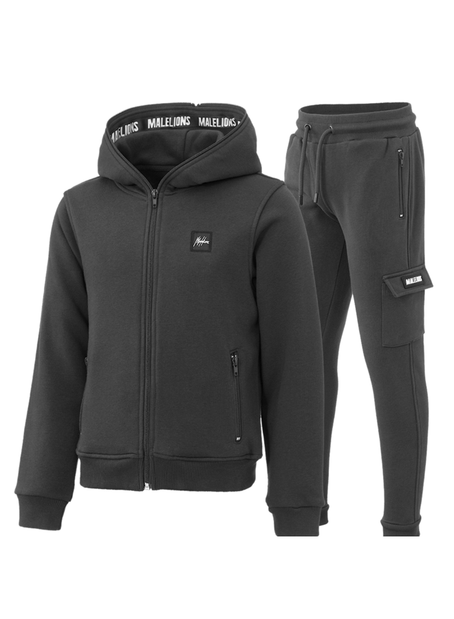 Malelions Junior Tracksuit Patch - Deep Dark Grey