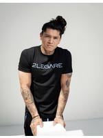 2Legare 2LEGARE T-shirt Logo Embroidery - Black / Blue