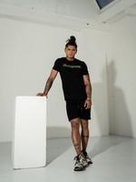 2Legare 2LEGARE T-shirt Logo Embroidery - Black/Neon Green
