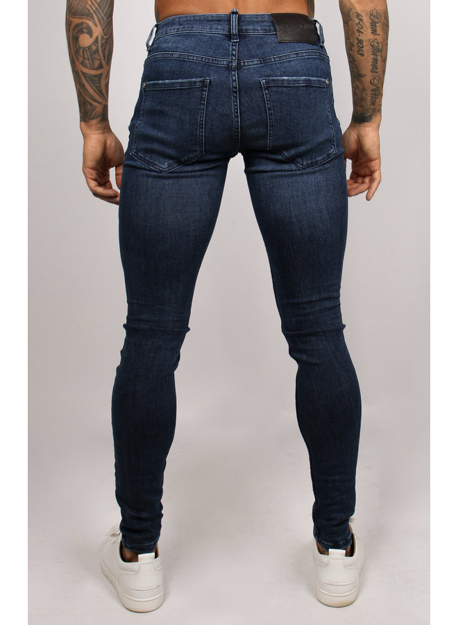 2LEGARE NOAH stretch jeans - Solid Blue