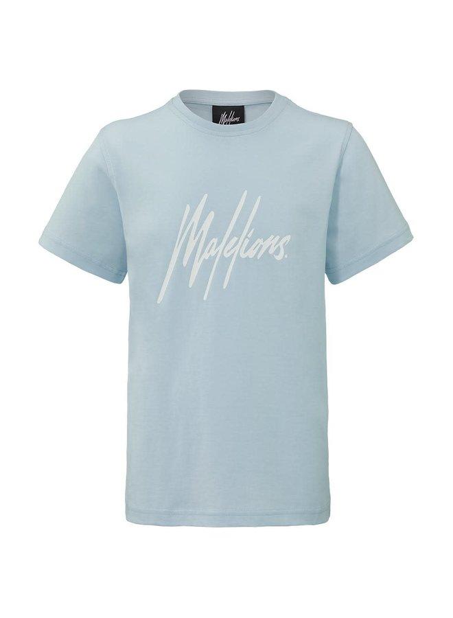 Malelions Junior Signature T-Shirt - Light Blue