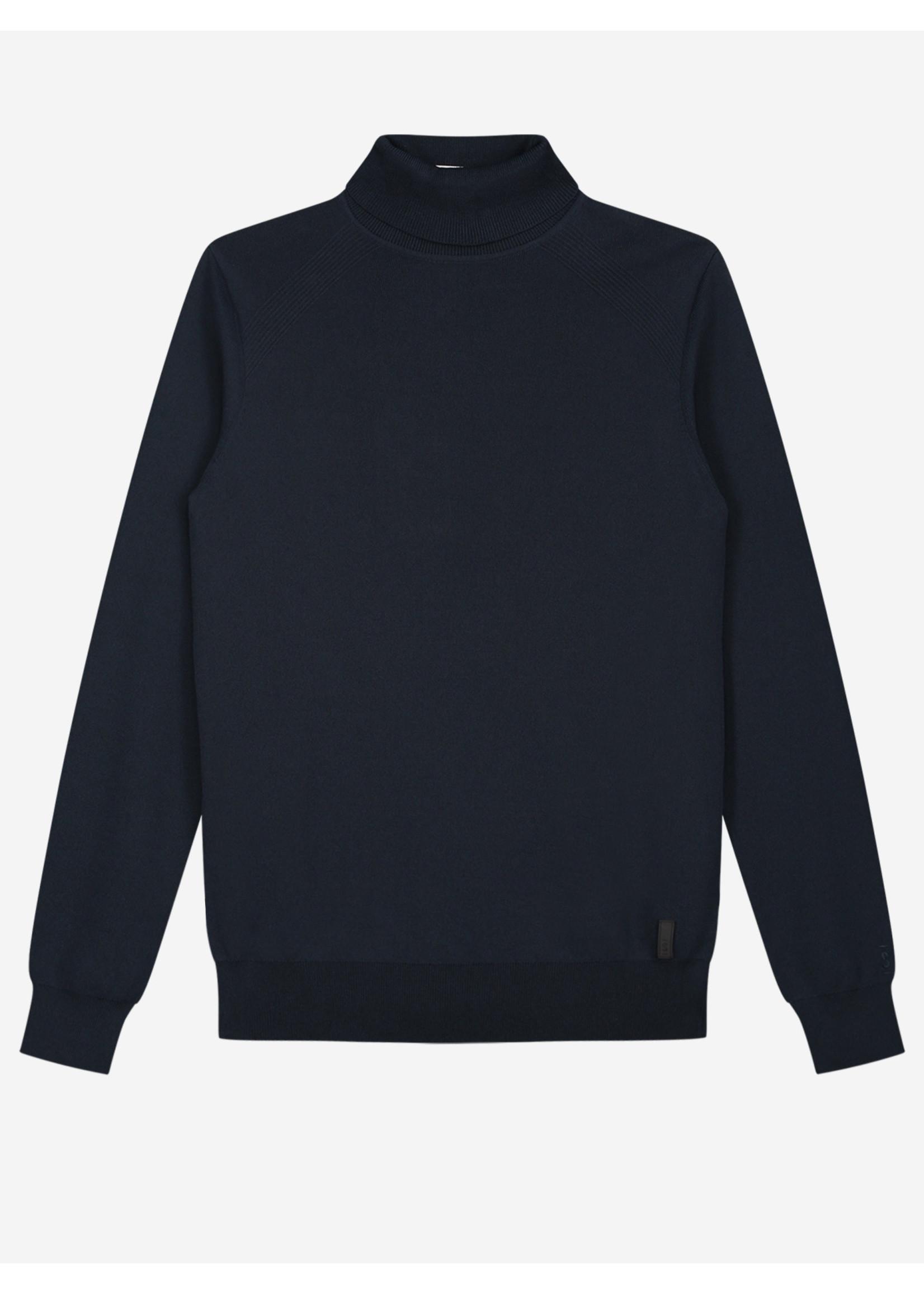 Sustain Sustain Knitted Turtleneck Sweater - Navy