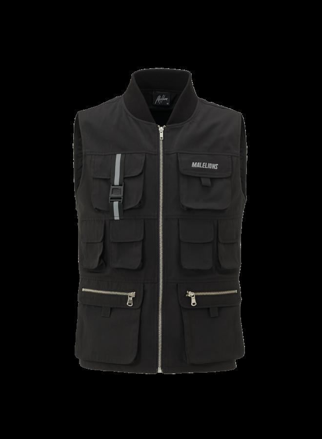 Malelions Tactical Reflective Vest - Black