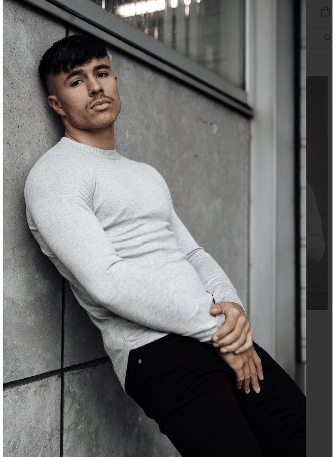 2LEGARE Crewneck Knitwear - Grey