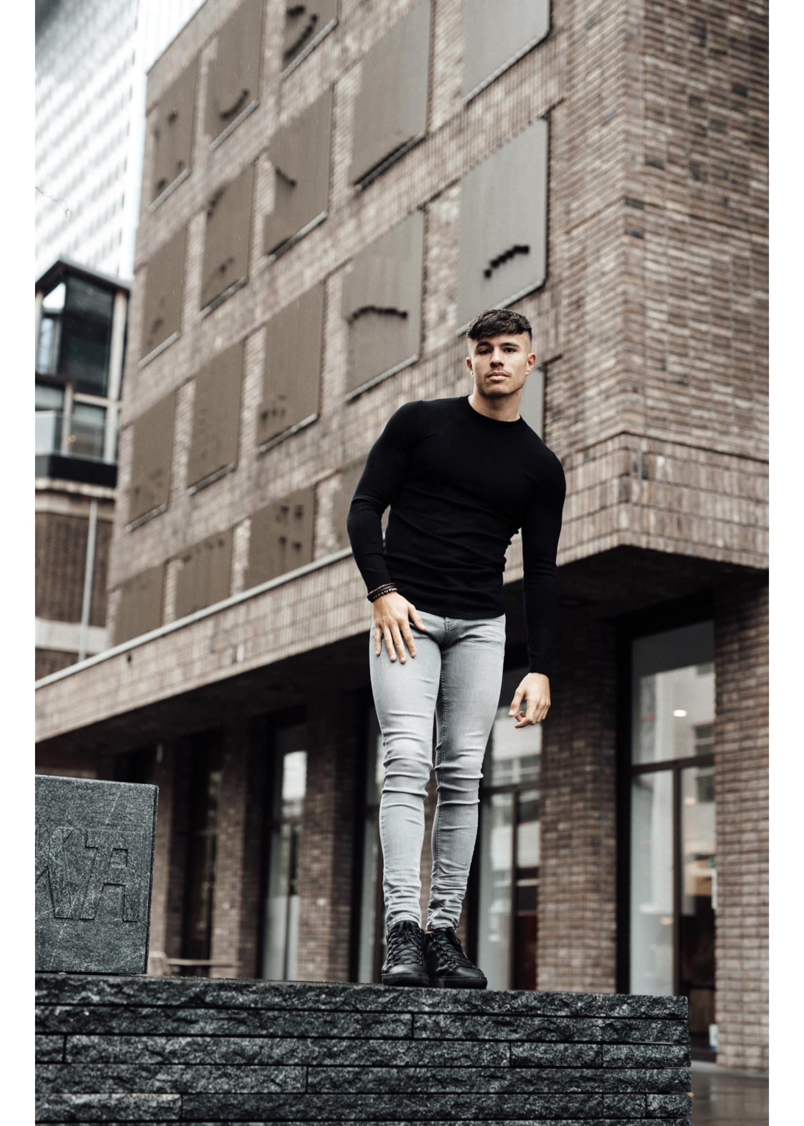 2Legare 2LEGARE Crewneck Knitwear- Black