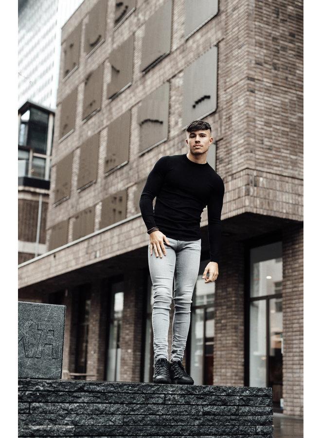 2LEGARE Crewneck Knitwear- Black