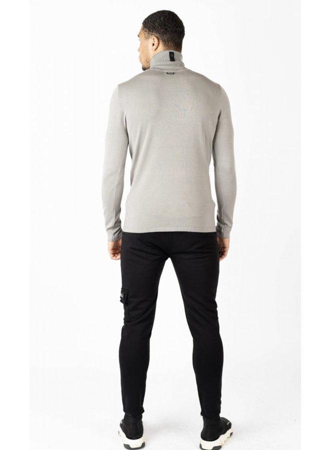 Quotrell Oslo Turtleneck- Grey