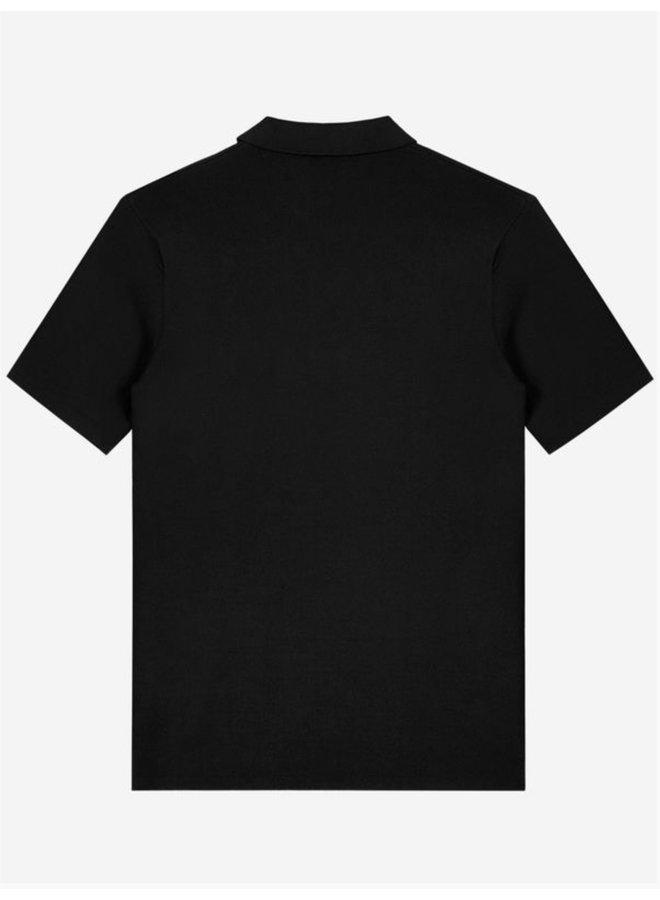 Sustain Knit Polo - Black